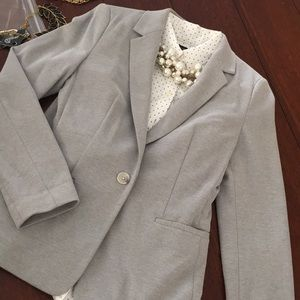 Express gray Knit blazer. Unlined, so casual chic